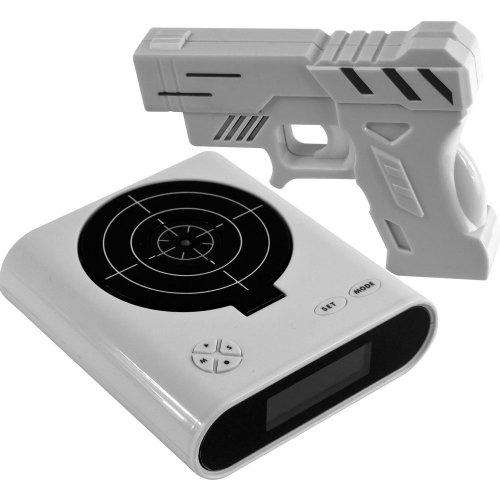 Althemax® Schießen Infrared Toy Gun Wecker Zieltafel Shooting-LCD-Bildschirm-Spielzeug-Spiel-Geschenke Weiß