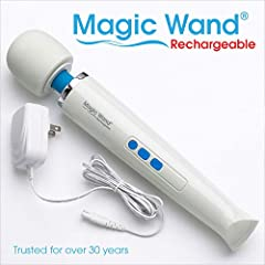 The Magic Wand Rechargeable is completely cordless to offer soothing stimulating massage nearly anywhere, anytime in rechargeable form. With its strength, versatility and staying power, Magic Wand Rechargeable delivers unprecedented vibration to targ...