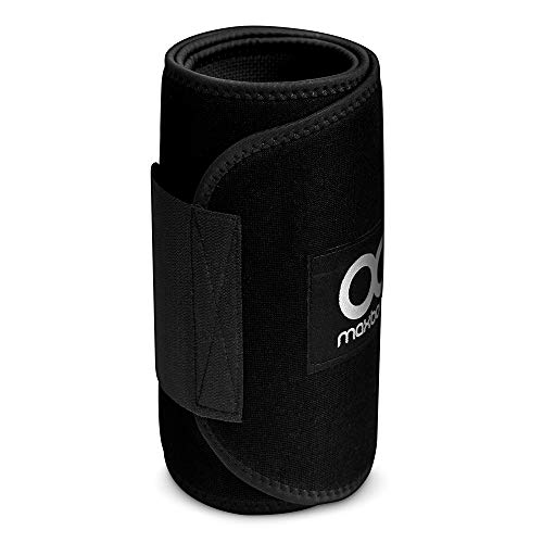Maxboost Waist Trimmer Premium Neoprene Ab Belt for Men & Women [Black, Classic Medium] Workout Sweat Enhancer Exercise Adjustable Wrap for Stomach- Enjoy Sweet Abdominal Muscle & Back Support