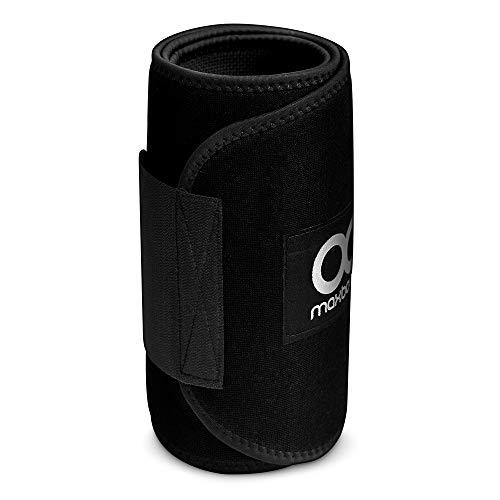 Maxboost Waist Trimmer Premium Neoprene Ab Belt for Men & Women [Black, Classic Medium] Workout...