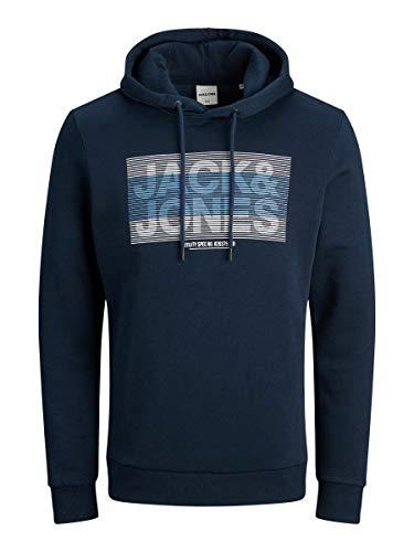 Jack & Jones JCOJUMBO Sweat Hood FST Sudadera con Capucha, Azul Marino, L para Hombre