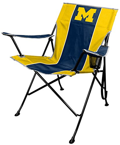 Rawlings NCAA Portable Folding Tailgate Chair with Cup Holder and Carrying Case