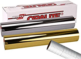 ORACAL 351 Silver & Gold Chrome Adhesive Craft Vinyl 12 Inches x 3 Feet Roll Bundle Including 12 Inches x 24 Inches Transfer Paper Roll