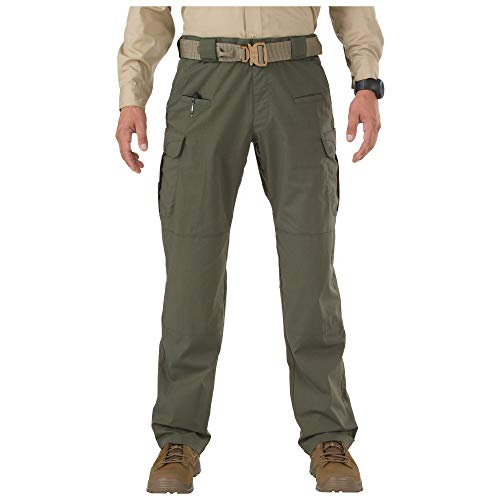 5.11 Tactical Men's Stryke Military Pants, Adjustable Waistband, Stretchable Flex-Tac Fabric, TDU Green, 32Wx32L, Style 74369