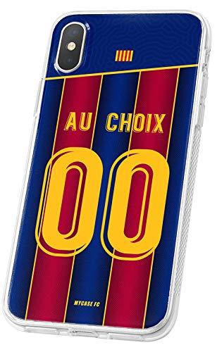 MYCASEFC - Cover di calcio personalizzabile Barcellona Barca per Samsung Galaxy S6 Edge Plus, in silicone, per smartphone personalizzato e fabbricato in Francia in TPU