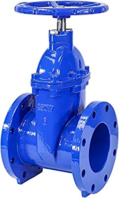 """IrrigationKing RKT6 6"""" Cast Iron Gate Valve with Rubber Wedge by IrrigationKing -"""