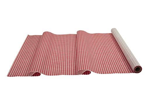 Sensalux Tischdeckenrolle, stoffähnliches Vlies, Oeko-TEX Standard 100 - Klasse I Zertifiziert, 1m x 25m, Karomuster