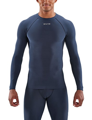 SKINS DNAmic Force Thermal Mens L/S Top Navy Blue M Long Sleeve Top Homme Navy Blue FR : M (Taille Fabricant : M)