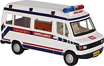 Amisha Gift Gallery® Centy Pull Back Ambulance Traveller Bus Toy for Kids - Door Openable