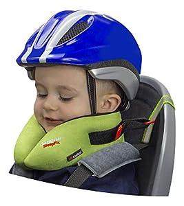 SANDINI SleepFix® Kids BIKE – Cojín cervical con función de sujeción y compensación de temperatura - Accesorio de asiento infantil para bicicleta - Evita que la cabeza de su hijo caiga mientras duerme