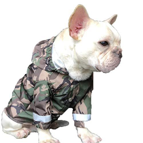 Pies przeciwdeszczowy, lekka kurtka przeciwdeszczowa bluzy z paskiem odblaskowym, łatwy krok w zamknięciu (Rozmiar : M.)