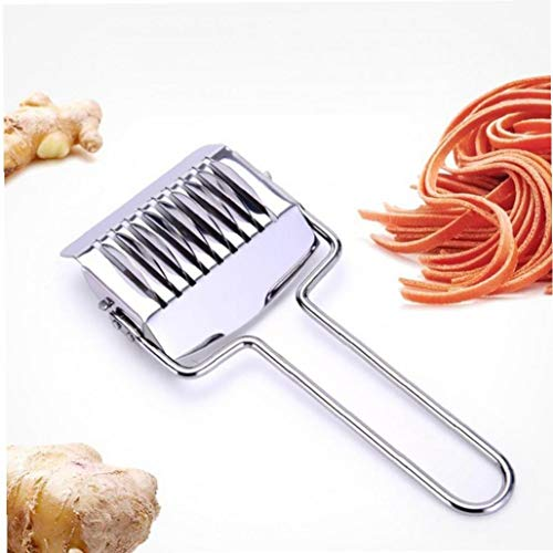 Angoter Manuale del Rullo dell'Acciaio Inossidabile Noodle Aglio Cipolla Verde Pasta tagliapasta Spaghetti Maker