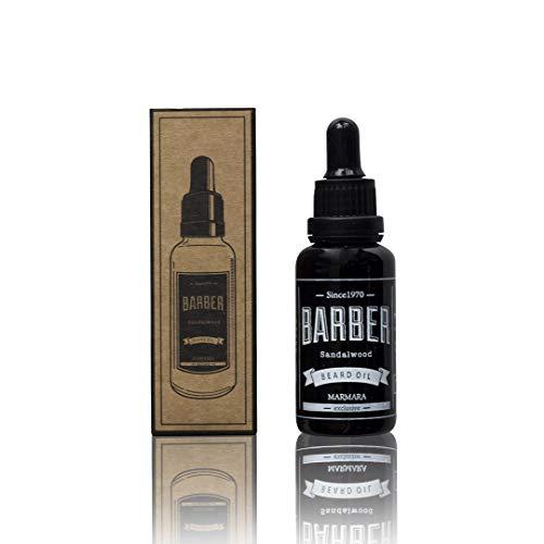 Barber Marmara Beard Oil 30ml Bart Öl für die tägliche Bartpflege von 3-Tage-Bart bis Vollbart Sandelholz Bartpflege Öl Männer Extra Glanz und geschmeidigkeit. Hochwertiges Bartöl herren