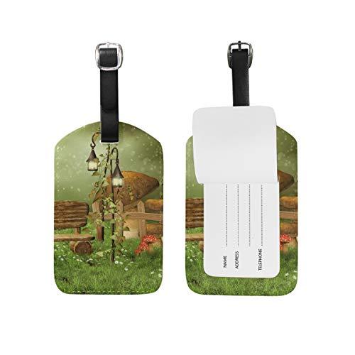 My Daily Enchanted Fairy Garden Gepäckanhänger aus PU-Leder, 2 Stück