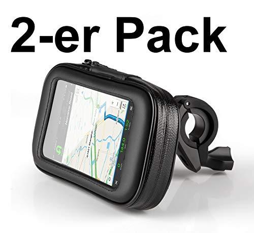 OKCS Fahrrad-Lenker-Tasche - Doppelpack - Bike Holder wasserdichte Universal-Tasche für Smartphones mit iPhone, Galaxy, Xperia etc. - Größe XL