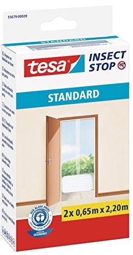 Tesa TE55679-00020-03 Insect Stop Zanzariere Attacca e Stacca Standard per Porte, 2x 0,65m:2,2m