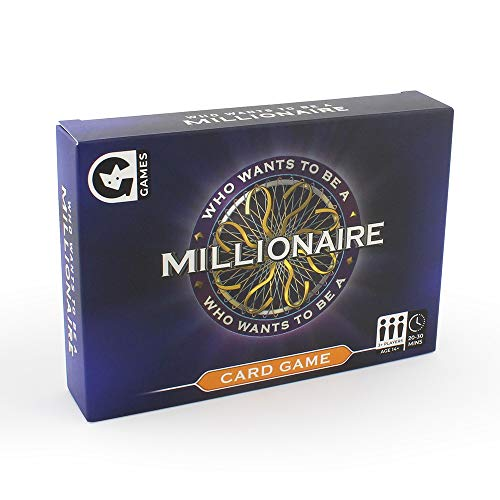 Ginger Fox Official Who Wants to Be A Millionaire Classic TV Quiz Card Game - Climb The Iconic Ladder with 4 Lifelines