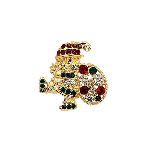 milkcha Christmas Brooche, Cute Crystal Diamond Enamel Christmas Jewelry Gift Including Red Crystal Reindeer White Reindeer Candy Cane Christmas Tree Wreath Snowflake Brooches (J)