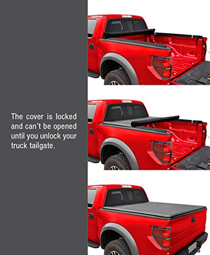 MaxMate Soft Roll Up Truck Bed Tonneau Cover Compatible with 2002-2018 Dodge Ram 1500   2019-2022 Classic Only   Fleetside 6'4