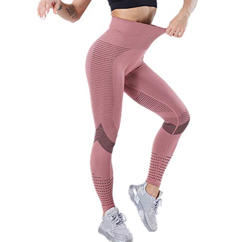 zhanxin Casual Women Leggings Fitness High Waist Push Up Patchwork Hollow Out Yoga Pants Seamless Female Leggings Pink