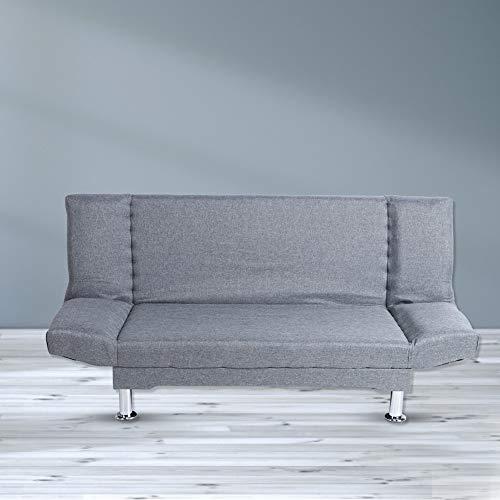 Divano letto Greensen Divano reclinabile in stile scandinavo a 3 posti con funzione letto, divano letto soggiorno divano letto mobili soggiorno con piedi cromati, mobili soggiorno Divano letto moderno