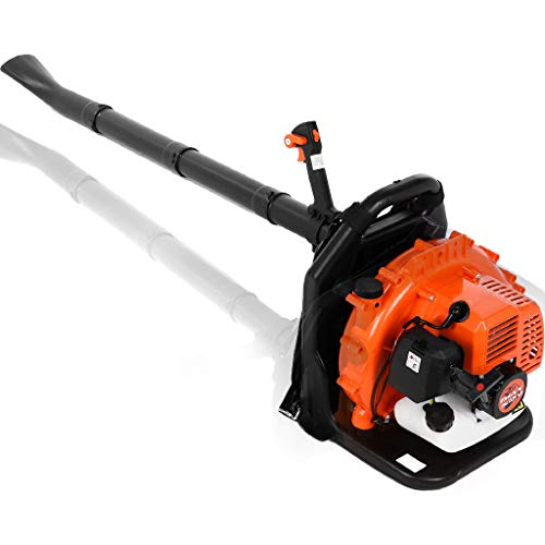 65CC High Performance Backpack Gas Powered Leaf Blower - 2-Stroke 2.3Hp Gasoline Blower for Lawn Care with Vacuum Capability