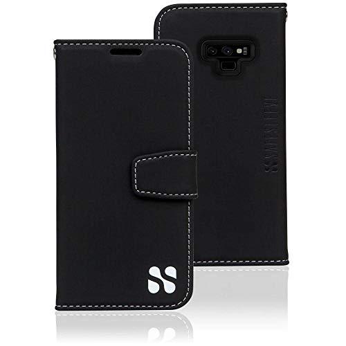 SafeSleeve EMF Protection Anti Radiation Galaxy Case: Galaxy Note 9 RFID EMF Blocking Wallet Cell Phone Case (Black)