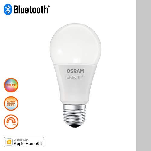 OSRAM Smart+ Ampoule LED Connectée   E27   Forme Standard   Dimmable   16 Millions de couleurs   10W (équivalent 60W)   Compatible Bluetooth - Pilotable avec Siri via Apple HomeKit