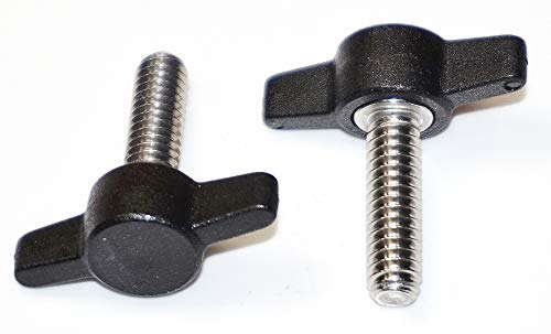 12 Thumbscrews Thumb Screw Butterfly Thumb Screws Thumbscrew T-Bolts 6mm x 25mm Thumb Screws with Wing Knob