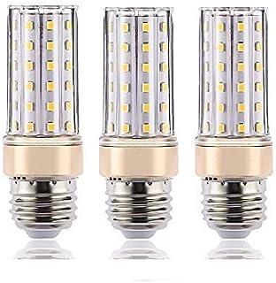 CESSPON Juego de 3 bombillas LED E27 regulables de 8 W equivalentes a 80 W, 1000 lm, luz diurna, luz blanca neutra, 4000 K, sin parpadeos, color blanco moderno