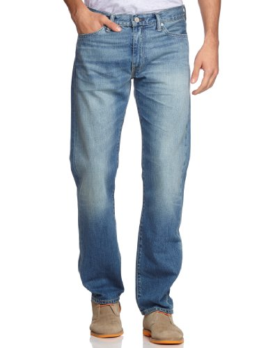 Levi's Herren Jeans, 504 REGULAR STRAIGHT, Blau (FIT SKY IS THE LIM), Gr. W32/L36