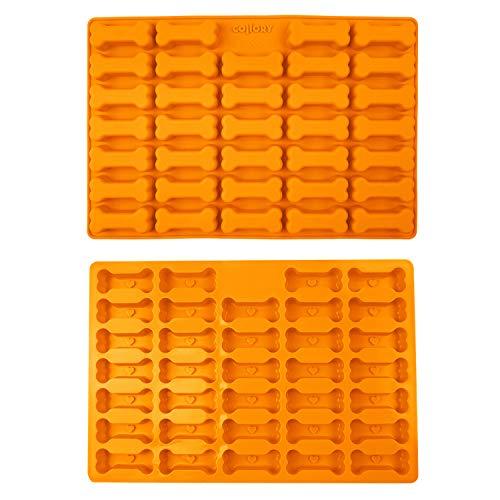 Collory siliconen bot bakvorm 39 x 26 cm | Grote botbakvorm voor hondenkoekjes en hondenvlechtjes | bonvorm | anti-aanbak en voedselveilig (BPA-vrij)