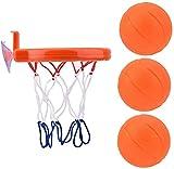 Soul hill Bañera de Baloncesto, Baloncesto baño Estante del Juguete del aro y Huevos de Disparo Juego for los niños del niño del bebé