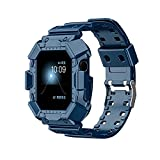 CHENPENG Compatible avec Apple Watch 1/2/3/4/5/6 / Se Femmes Transparent TPU Sport Band Strap Bandes...