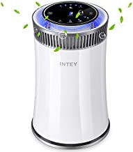 INTEY Air Purifier Cleaner with HEPA Filters for Allergy, Pet Dander, Odor, Cigarette Smoke, Mold, Dust, Pollen, Germs, with Timer, 5 Speed, UV Air Sanitizer, for Home and Office