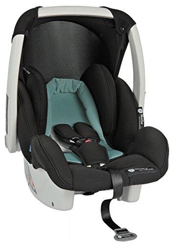 Babyschale Autokindersitz Cocomoon, verschiedene Designs, Gruppe 0+, 0-13 kg, Farbe:Blau-Schwarz