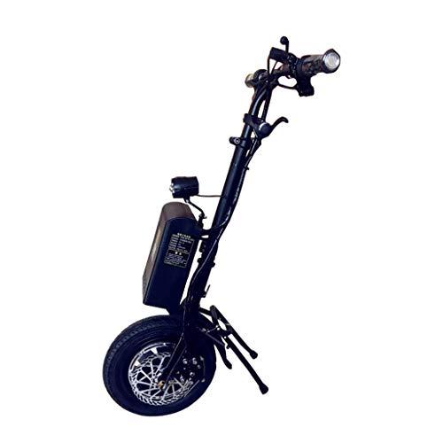 LULA DIOE Rollstuhl-Boost, elektrisches Handbike, Hupe, Beleuchtung, 36V10Ah-Batterie, Schwarz