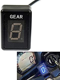 Laz-Tipa - For Yamaha Warrior 2002-2012 V-Star 950cc and above ALL YEARS LED Electronics 1-6 Level Gear Indicator Moto Speed Digital Meter