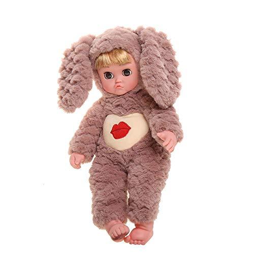 MYYXGS Wiedergeburt Baby MäDchen Puppe Junge Puppe Real Puppe Begleiten Schlaf Puppe Neugeborenes Baby Puppe Realistische Silikon Puppe Geburtstagsgeschenk 7 35 cm