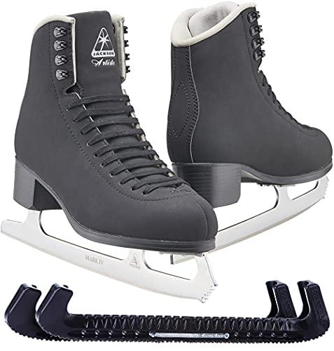 Jackson Ultima JS1792 Men's Ice Skates/Width: Medium (C/M) / Size: Adult 11 Bundle with Skate Guards