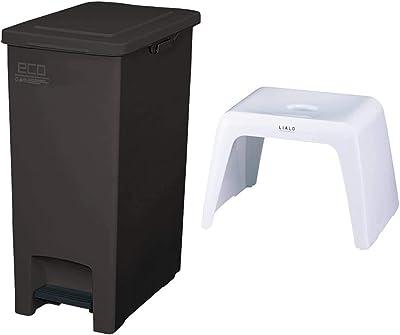 アスベル エバンペダルペール45L SD ブラウン & 風呂椅子 リアロ 高さ25cm Ag 抗菌 ホワイト【セット買い】
