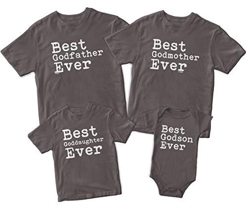 Best Goddaughter Ever Kid's T-Shirt (6 Months, Charcoal)