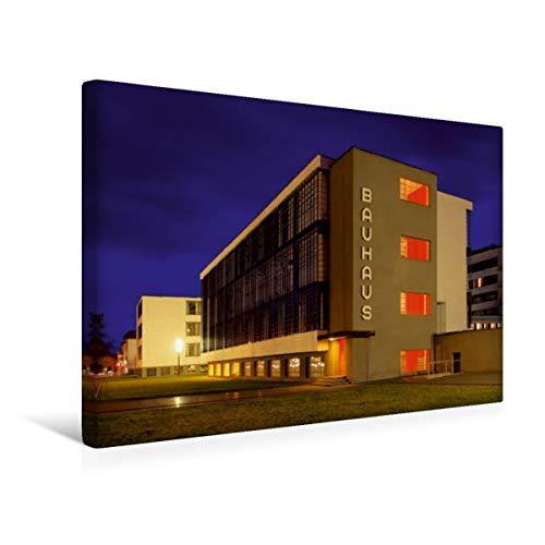 CALVENDO Premium Textil-Leinwand 45 cm x 30 cm quer, Bauhaus | Wandbild, Bild auf Keilrahmen, Fertigbild auf echter Leinwand, Leinwanddruck: Dessau Orte Orte