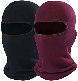 AXBXCX 2 Pack - Windproof Ski Face Mask Winter Balaclava Motorcycle Neck Warmer Gaiter