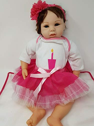 SAMMAR GIFTS Reborn Fun Play Doll Muñeca de 55,88 cm Muñeca de vinilo suave para cena, regalo nuevo (muñeca de cuerpo suave con peso de 1,81 kg)