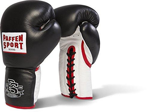 Paffen Sport PRO Heavy Hitter Boxhandschuhe für das Sparring; schwarz/weiß/rot; 16UZ