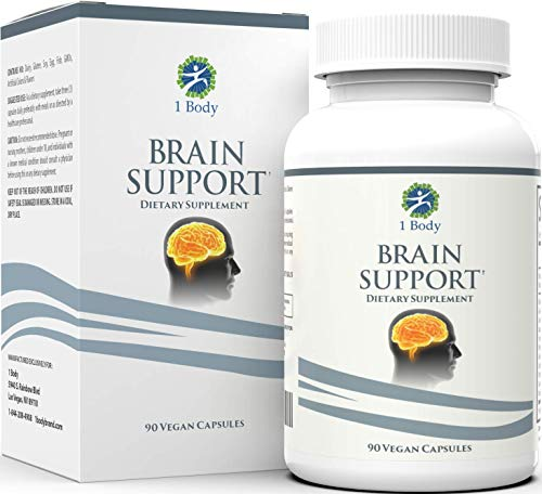 Brain Support Focus Supplement Pills - Support Healthy Brain Function with Nootropics, Improve Memory and Boost Focus - Alpha GPC, Lions Mane Extract, Bacopa Monnieri