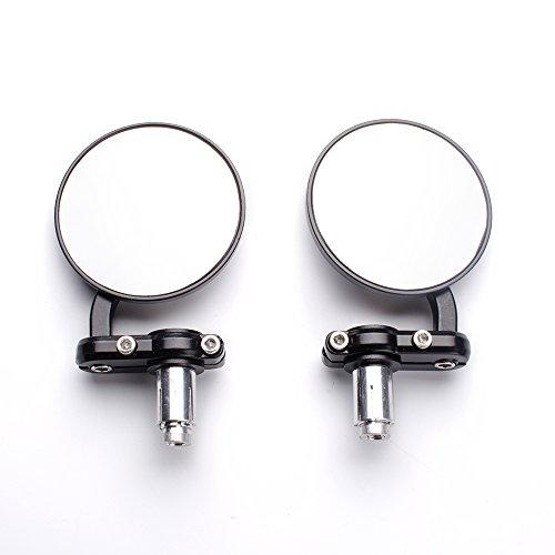 "Aeroway Rear View Side Mirror Round Bar End Convex Hawk-eye Motorcycle Mirror For 7/8"" Handle Bars Fits Most Harley Davidsons Suzuki Honda Kawasaki Cruisers"