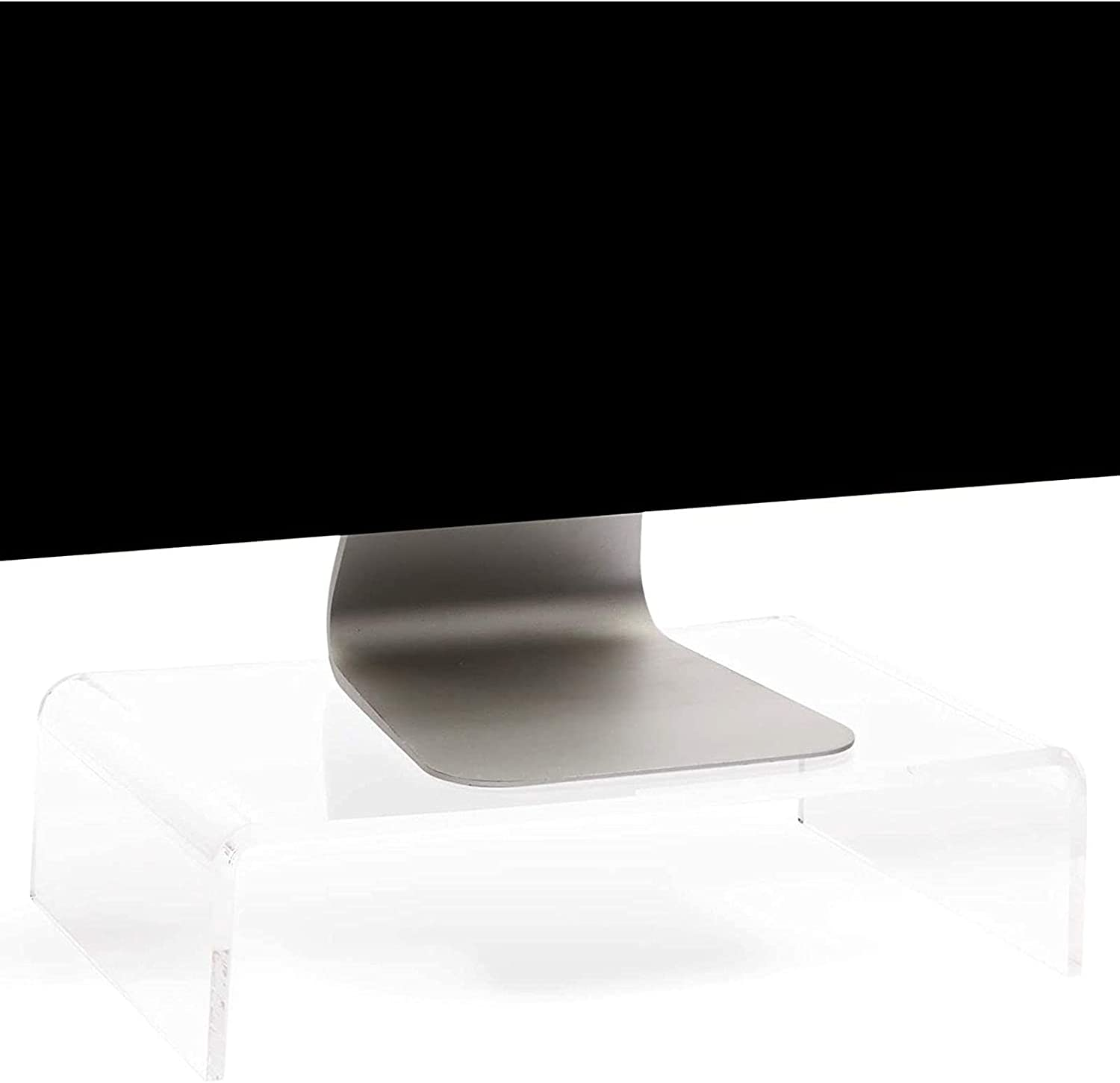 Acrylic Computer Monitor Stand, Clear Display Riser (4 x 15 x 10 Inches)