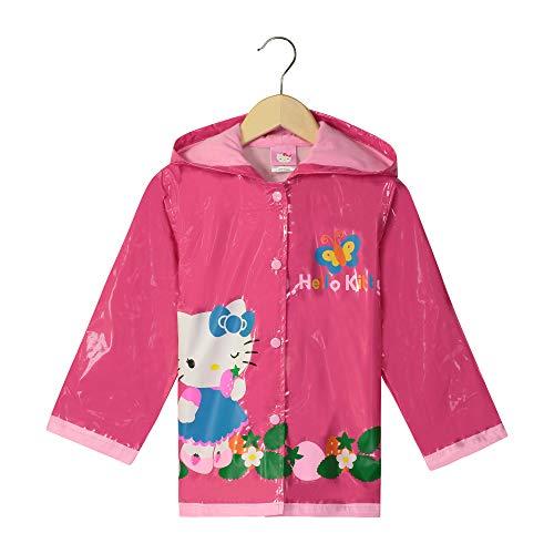 SANRIO Hello Kitty Girl's Pink Rain Coat - Size 4T